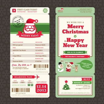 Airline tickets, christmas