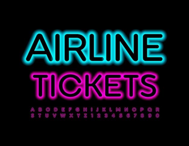 Билеты на самолет современный шрифт светящиеся буквы и цифры алфавита