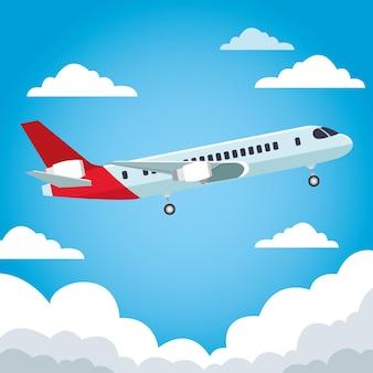 Самолет авиакомпании летающие путешествия в небе
