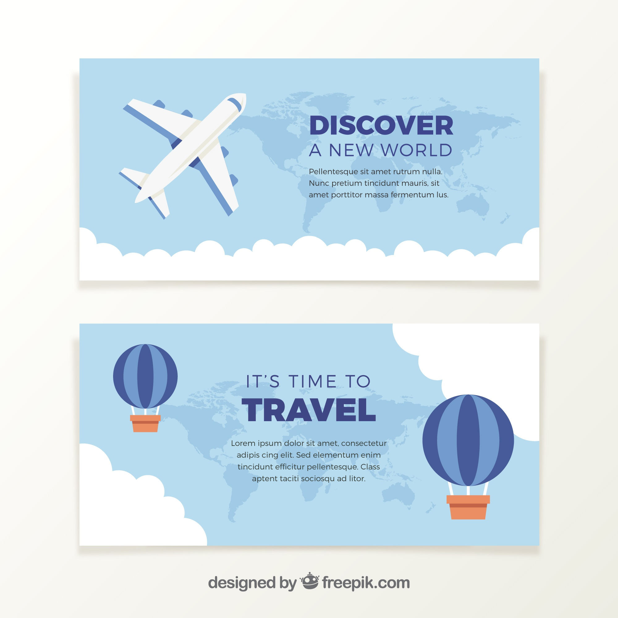 Airplane banners and balloons