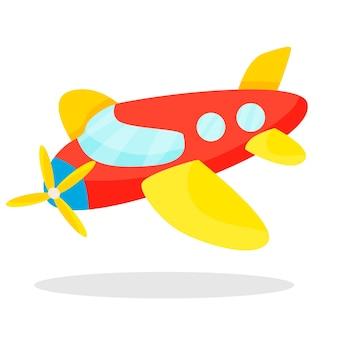 귀하의 디자인에 대 한 흰색 배경에 고립 된 비행기 어린이 장난감 아이콘