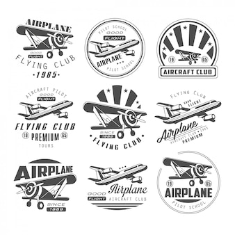 Airplane club emblems