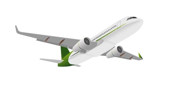 Дизайн самолета горизонт путешествия транспорт на белом фоне