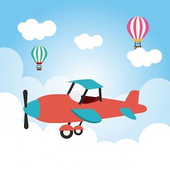 Дизайн самолета Premium векторы