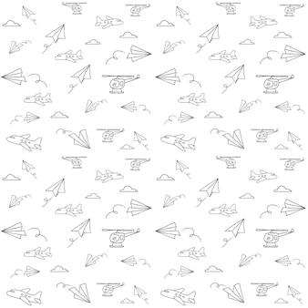 비행기 낙서 패턴