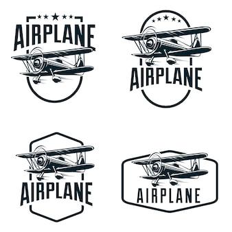 飛行機のエンブレムのロゴ