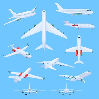 Airplane flying illustrations