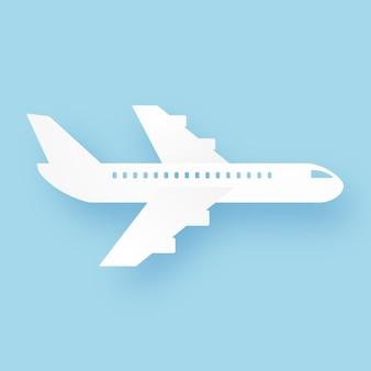 飛行機の飛行、紙のアートスタイル