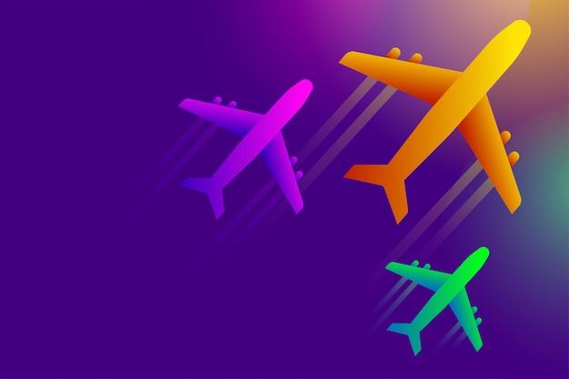 空の図に飛ぶ飛行機