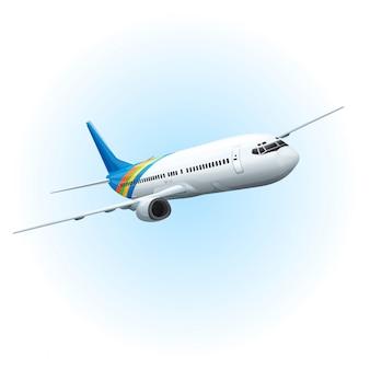 空に飛行機