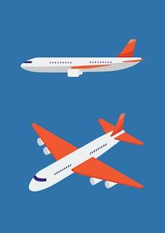비행기 아이소메트릭 그림입니다. 벡터 일러스트 레이 션