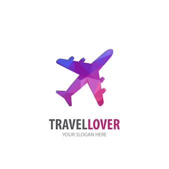 Эмблема самолета для деловой компании. простой дизайн идеи логотипа самолета. концепция фирменного стиля. креативный значок самолета из коллекции аксессуаров.