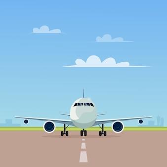 Самолет на взлетной полосе