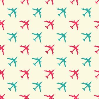 Иллюстрация образца самолета. креативный образ в стиле милитари
