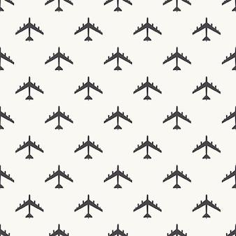 飛行機のパターン図。クリエイティブでミリタリースタイルのイメージ
