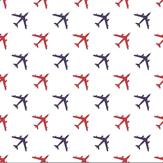 Airplane pattern illustration. creative and military style image