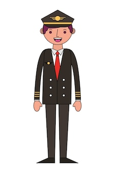 Airplane pilot avatar character vector illustration design