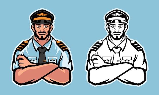 Иллюстрация пилота самолета