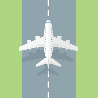 Airplane runway. airplane trendy icon