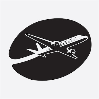 Airplane silhouette logo in coffee
