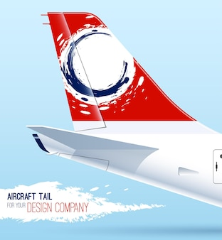 비행기 꼬리. 디자인을 위한 템플릿입니다. 항공기 꼬리