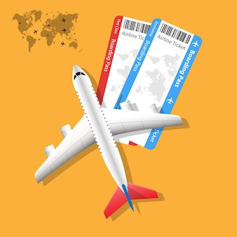 Airplane tickets airline boarding pass tickets