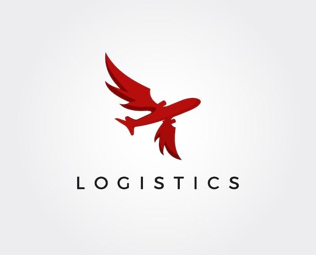 Шаблон логотипа путешествия самолета