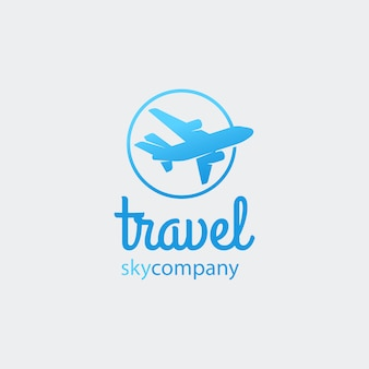 Airplane or travel logo