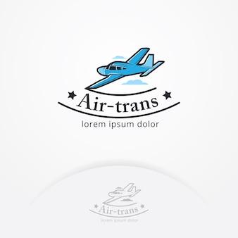 Векторные иллюстрации эмблемы самолета
