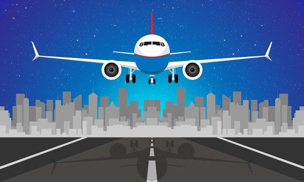 비행 항공기의 비행기 보기