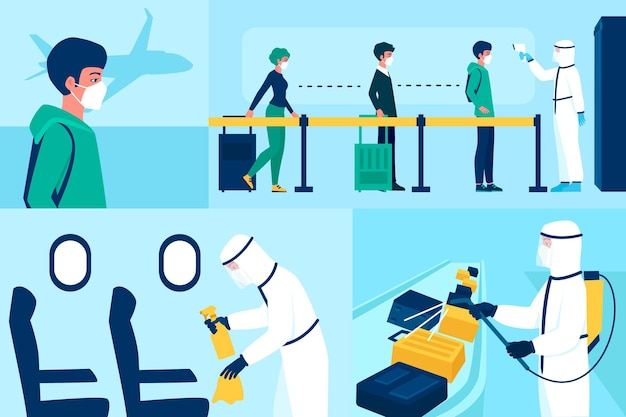 Airport disinfection preventive measures