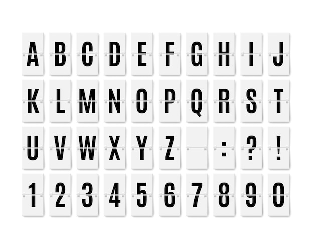 Аэропорт флип-борд панель типографика отображение шрифта реалистичный терминал механическая аналоговая плата