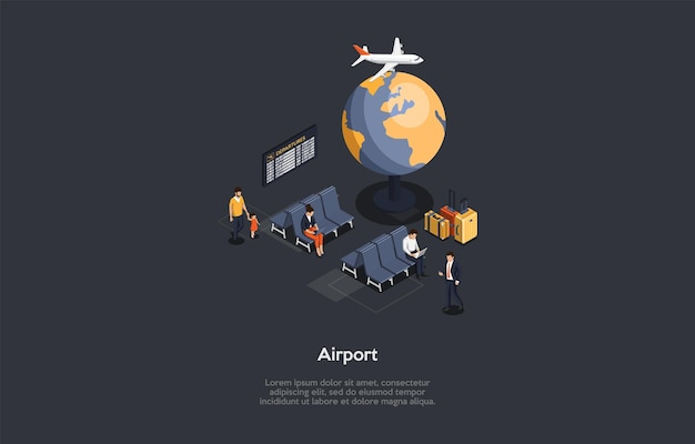 Airport interior composition
