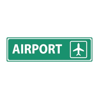 Airport plane departure and arrival terminal sign.