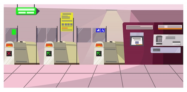 Airport security gates illustration