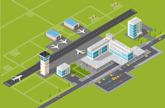 Airport terminal for arrival and departure