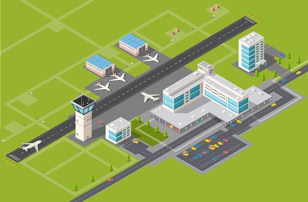 도착 및 출발을위한 공항 터미널