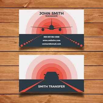 Airport transfer business card