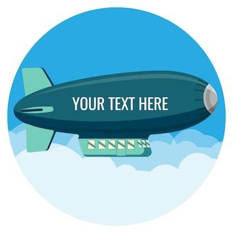 飛行船の動力駆動航空機は、ガスヘリウムの本体によって浮力を維持しました。空の飛行船の宣伝