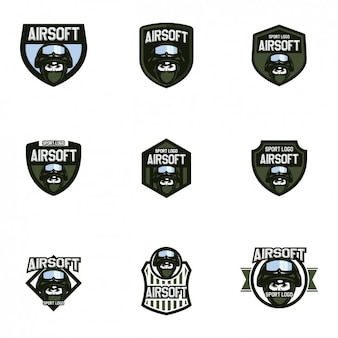Airsoft logo templates collection