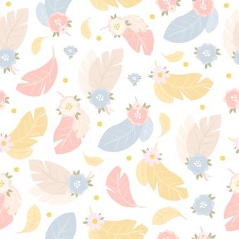 風通しの良い羽のシームレスパターン