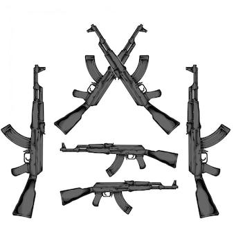 Ak 47手描き