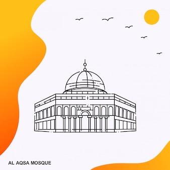 Al aqsa mosque poster template