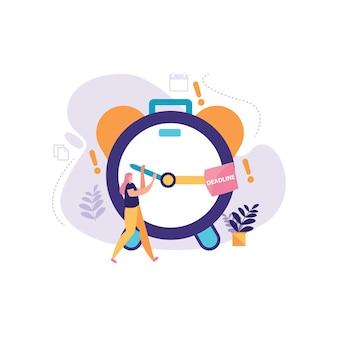 The alarm business clock illustration