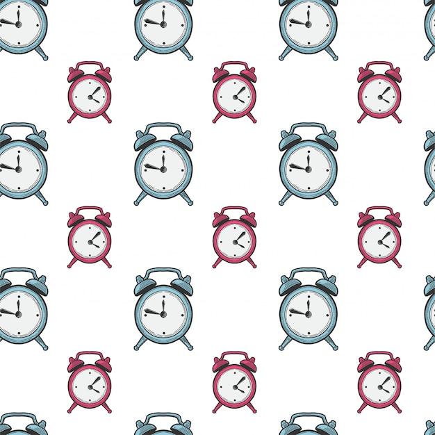 Alarm clock, analog watches.