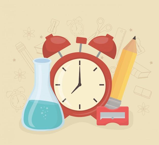 학교에 알람 시계 및 소모품