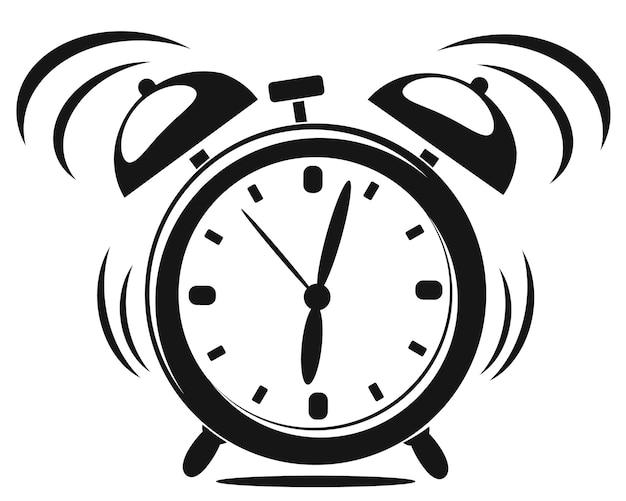 Alarm clock black and white rings.