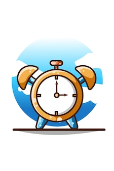 Alarm clock illustration hand drawing