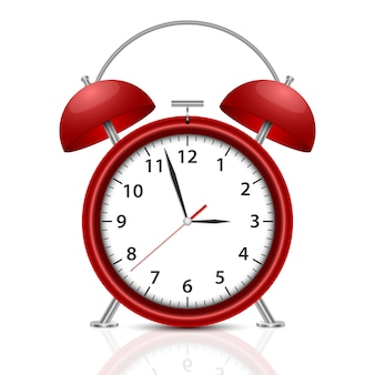 Alarm clock   illustration  on white background