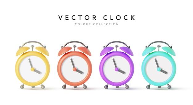 Alarm clock isolated on white background.  illustration